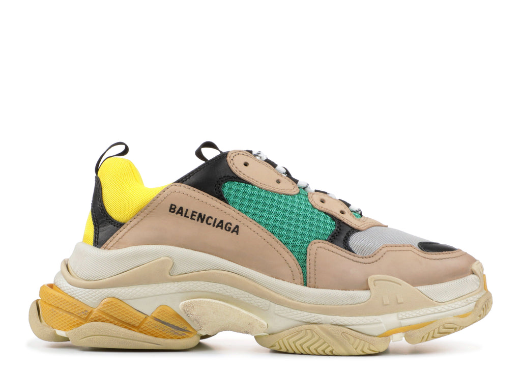 Streetwear Shoes Balenciaga White Yellow Sport Sneakers