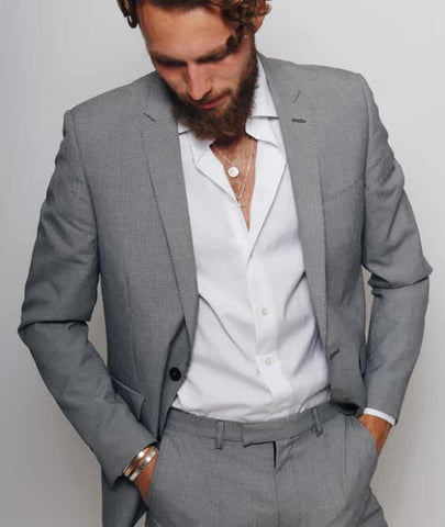 Suit and Necklace for men man