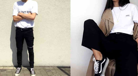 Color Blocking black and white streetwear