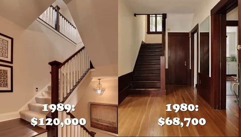 Average House Real estate price in the 1980 1989 80s