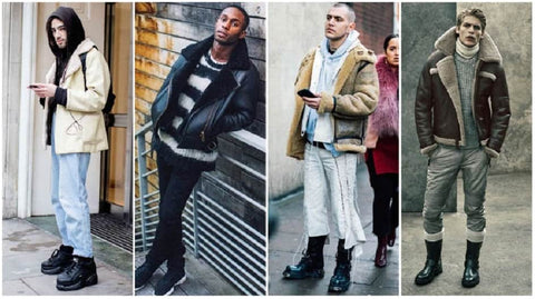 Shearling Jacket Men man 2020 Trends