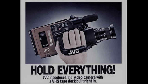 Hold Everything camera commercial in the 80s ad