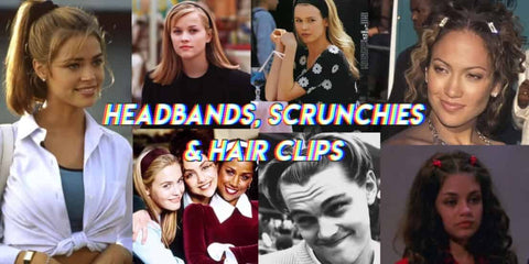 Headbands Scrunchies and Hair Clips 90s Fashion Trends