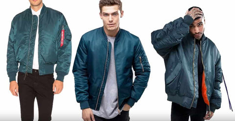 Sea green bomber jackets