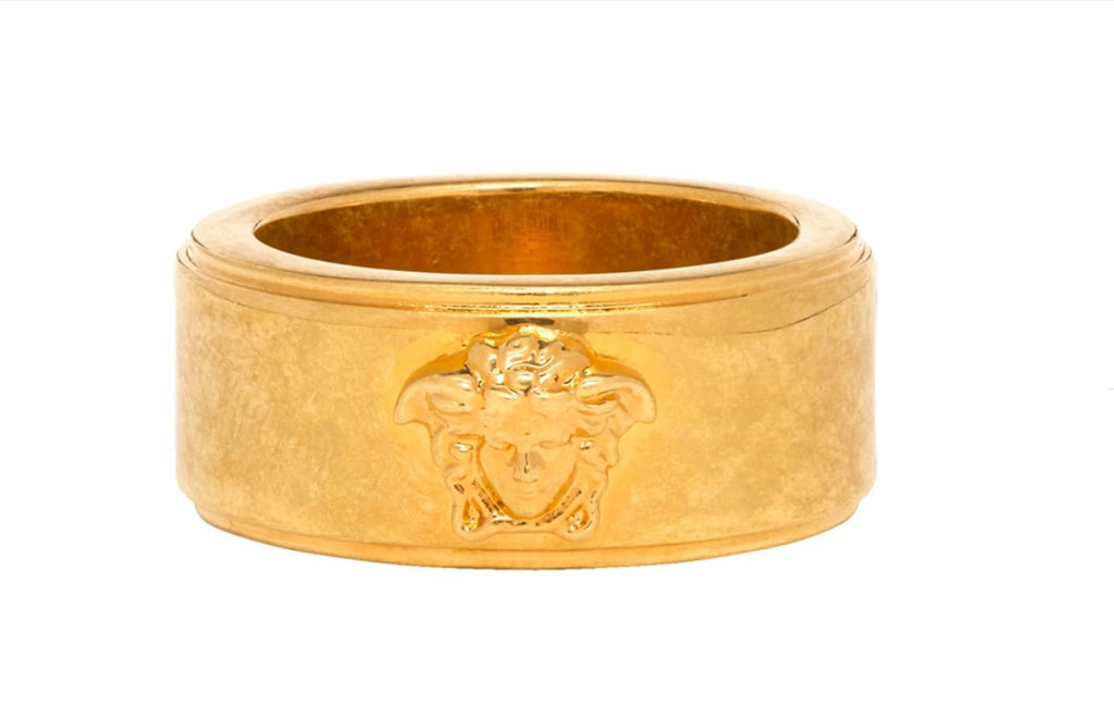 Versace 2019 Golden Medusa head ring