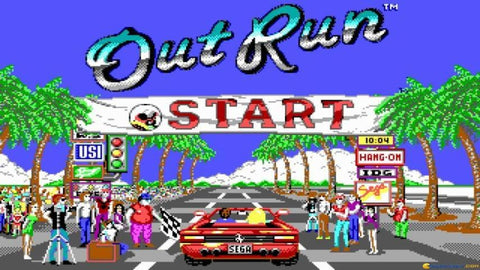 Outrun Car gaming red ferrari