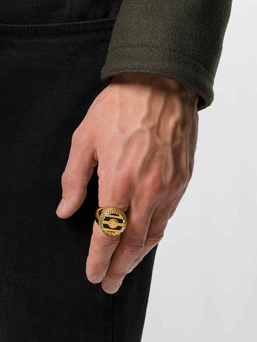 Gold Ring streetwear hypebeast men