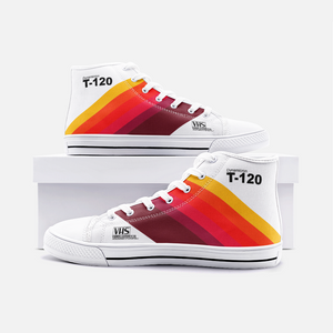 VHS High Top Canvas Shoes - Newretro.Net