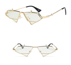 Gold Steampunk Flip up Sunglasses - New Retro Streetwear Newretro.Net