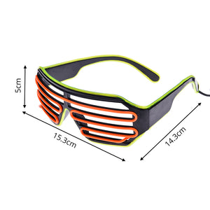 LED Neon Glasses - New Retro Streetwear Newretro.Net