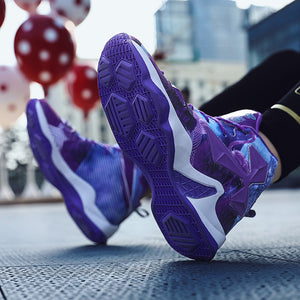 Purple 1985 Retro Streetwear Sneakers - New Retro Streetwear Newretro.Net