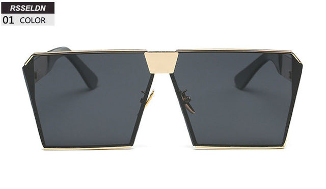 Fashion Flat Top Sun Glasses - New Retro Streetwear Newretro.Net