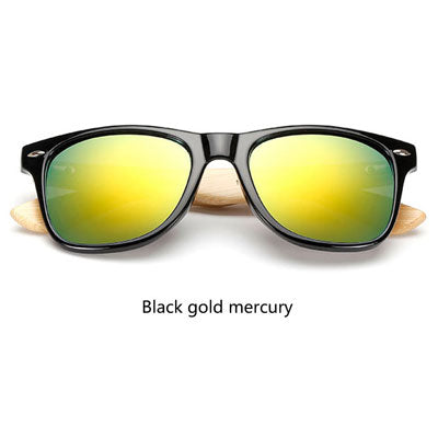 Retro Bamboo Sunglasses - New Retro Streetwear Newretro.Net