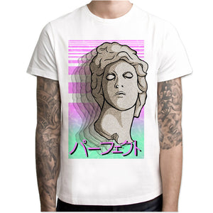 Vaporwave Summer Fashion Casual White - New Retro Streetwear Newretro.Net