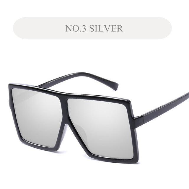 Oversized Large Square Sunglasses - New Retro Streetwear Newretro.Net
