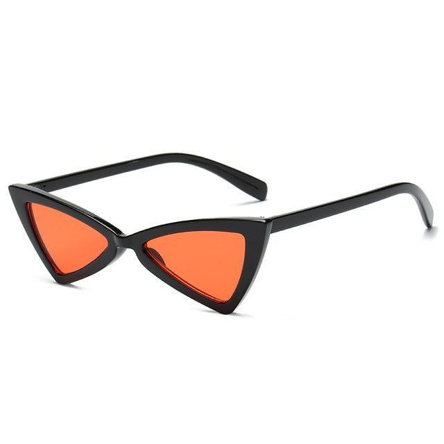 Triangle Black Ladies Sunglass - New Retro Streetwear Newretro.Net