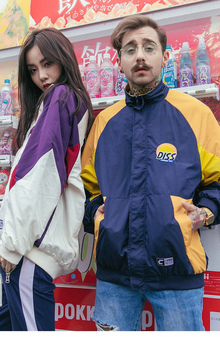 Diss Embroidery Track Jacket - New Retro Streetwear Newretro.Net