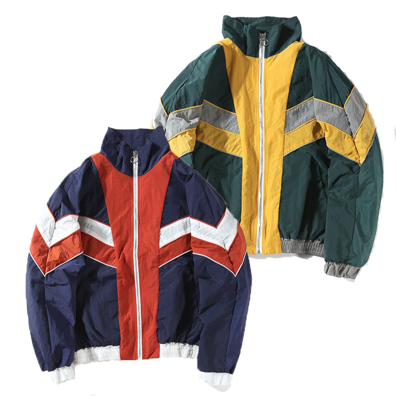 Multicolor Retrowave Windbreaker - New Retro Streetwear Newretro.Net