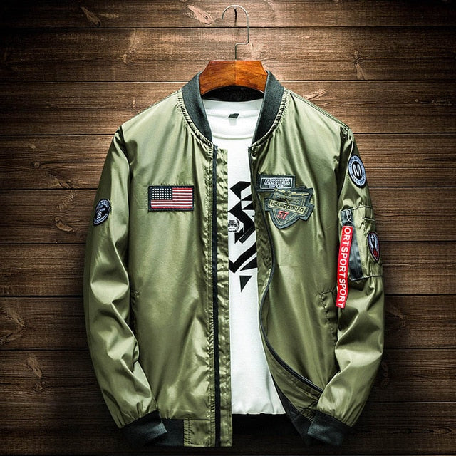 Army Green Bomber Jacket - New Retro Streetwear Newretro.Net