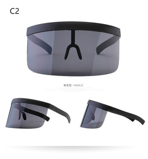 Oversize Shield Visor - New Retro Streetwear Newretro.Net