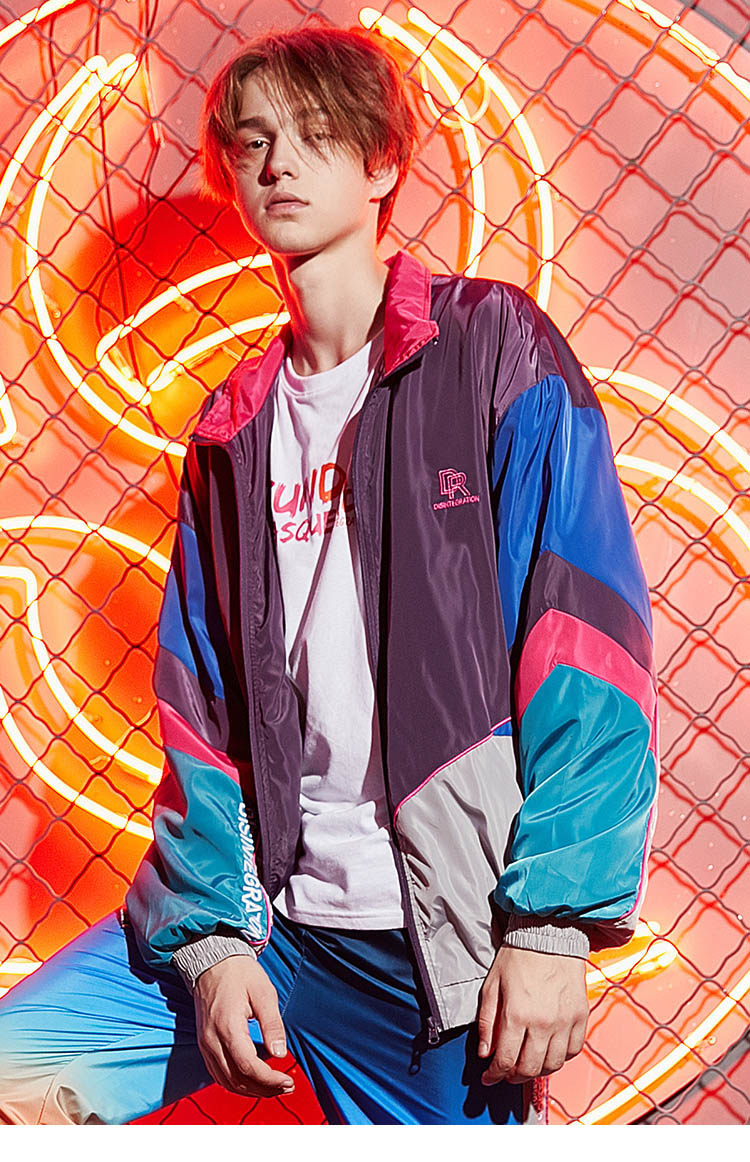 Oversized '80s Streetwear Men Jacket - New Retro Streetwear Newretro.Net