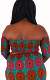 Adai Blue Bardot Crop Top - House of Amara