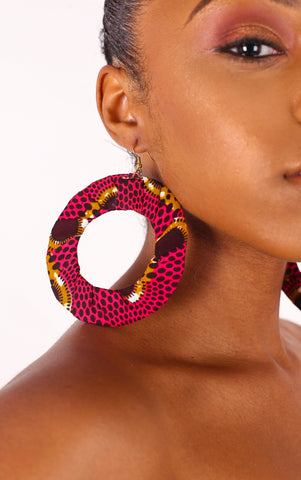 Adai Pink Hoop Earrings