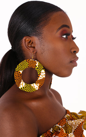 Adai White Hoop Earrings