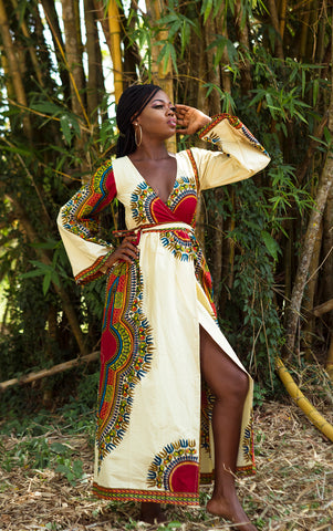 Malaika Wrap Maxi Dress - House of Amara