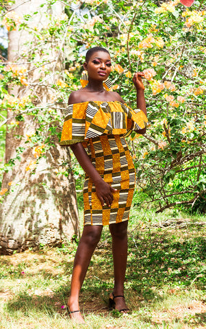 Asante Midi Dress - House of Amara