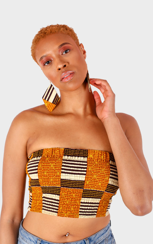 Asante Bandeau Top - House of Amara