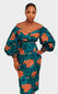 Ife Wrap Midi Dress - House of Amara