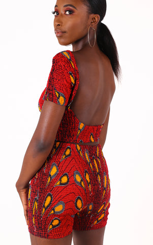 Leylah Red Backless Top - House of Amara