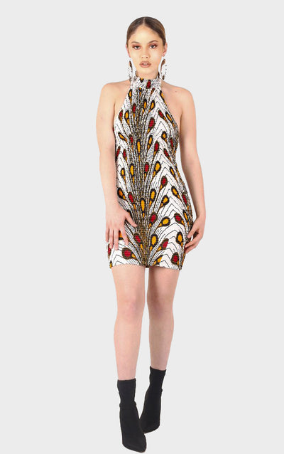 Leylah High Neck Dress - House of Amara