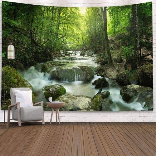 Calm Flowing River Tapestry