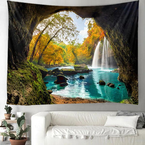 Turquoise Falls Tapestry
