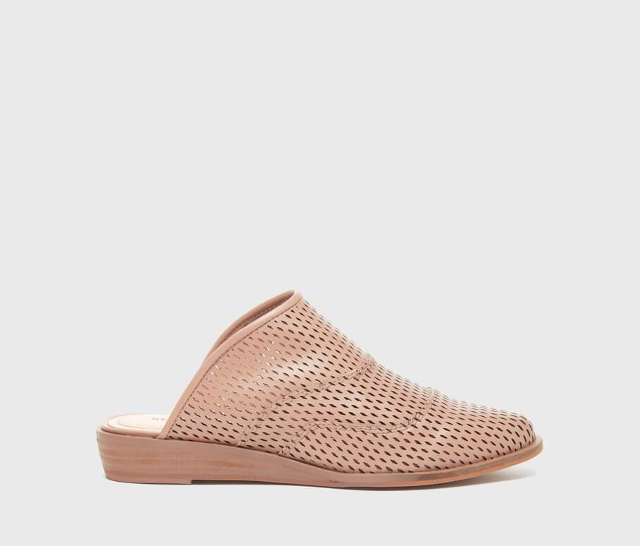 Kelsi Dagger BK® Adelaide Nude Perforated Leather Flat