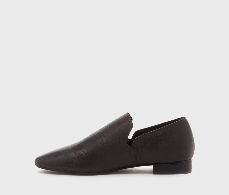 Kelsi Dagger BK® Clara Black Leather Flat