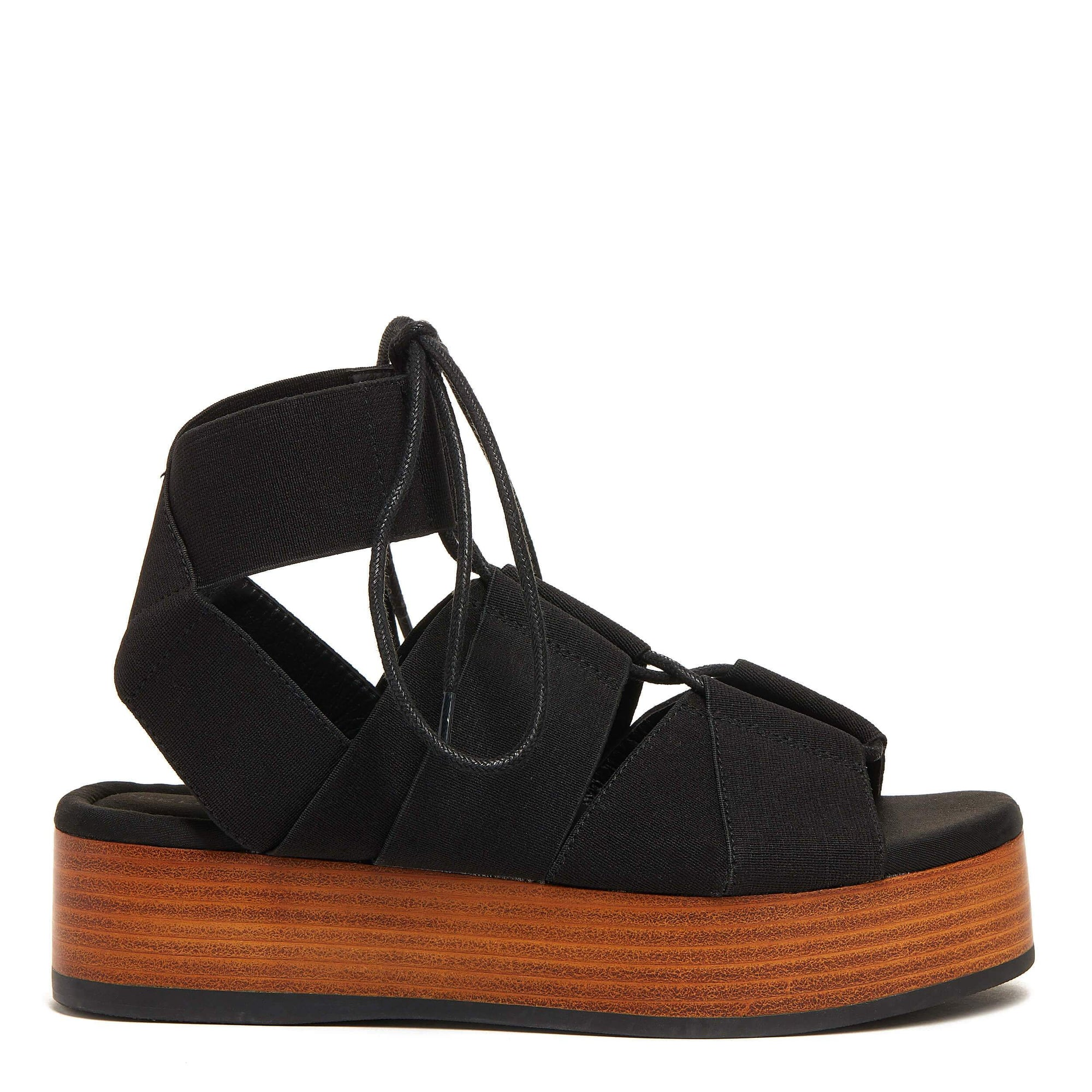 Decatur Black Platform Sandal