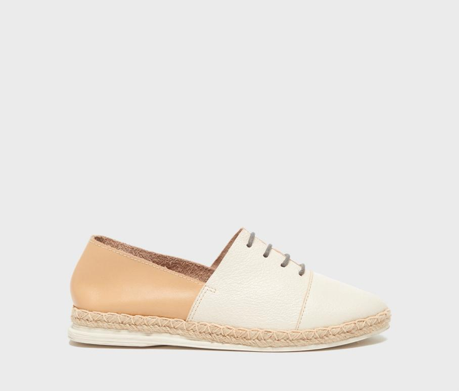 Kelsi Dagger BK® Evolve Ivory Leather Flat
