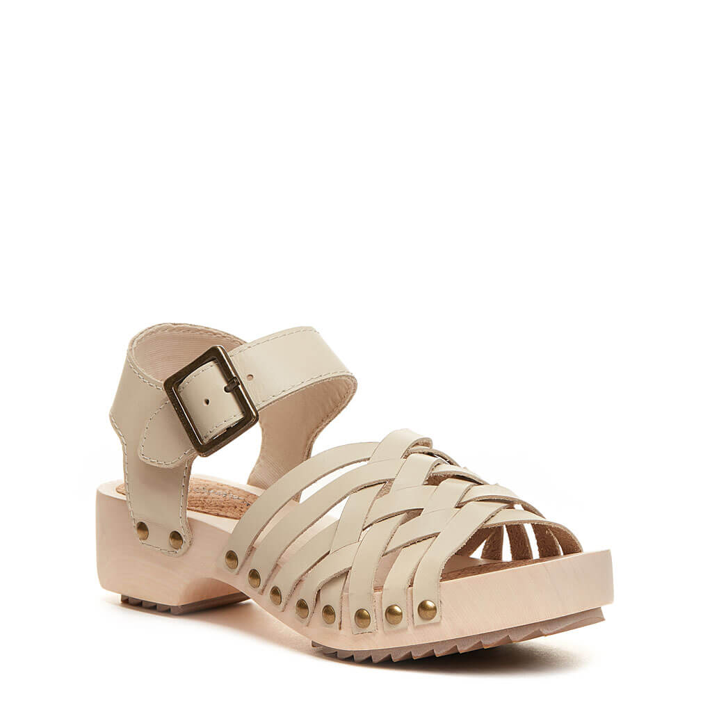 Grain Sand Leather Wood Sandal by Kelsi Dagger