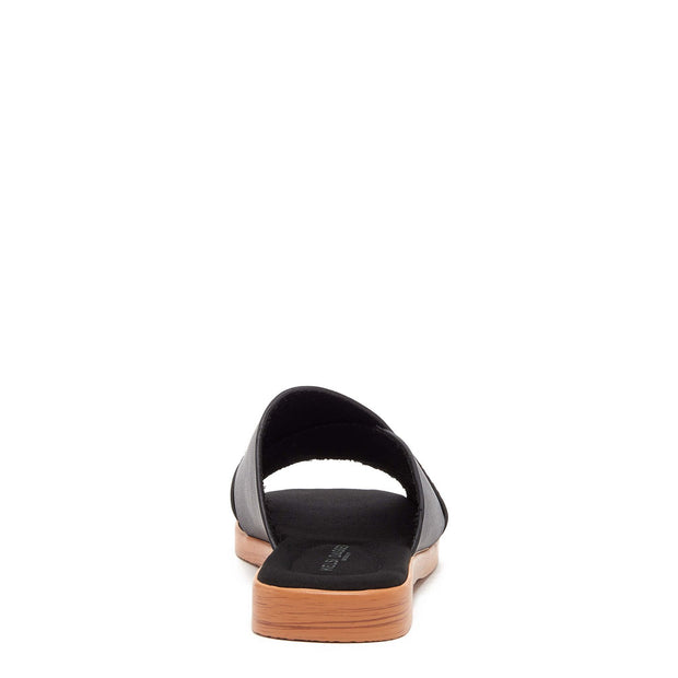 HALSEY BLACK SLIDE SANDAL