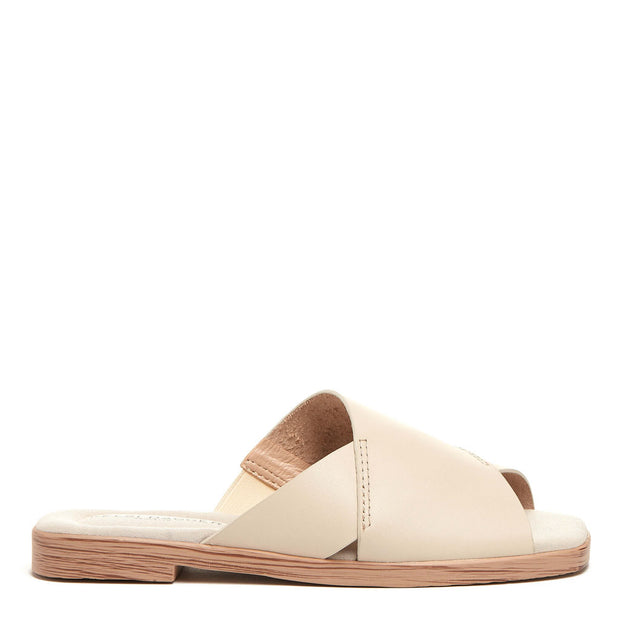 Halsey White Wash Slide Sandal