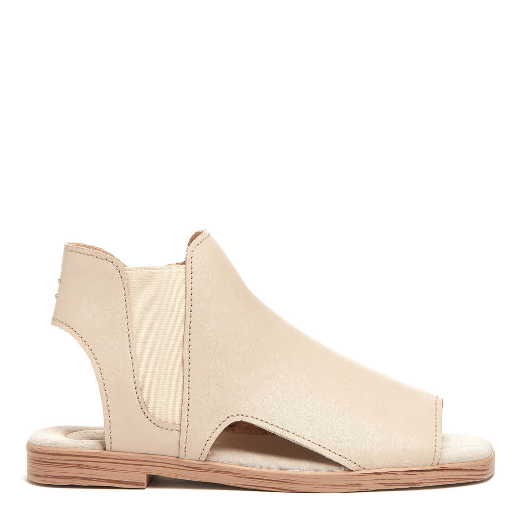 Hart White Wash Peep Toe Leather Sandal