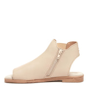 Hart White Wash Peep Toe Leather Bootie