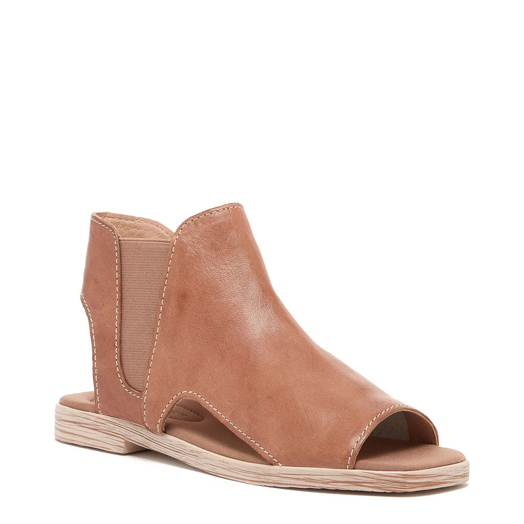 Hart Tan Peep Toe Leather Sandal