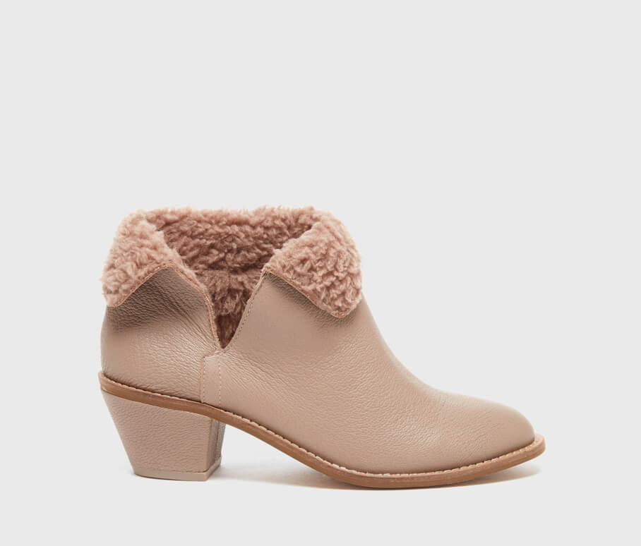 KAYAK TAUPE CUFF BOOTIE