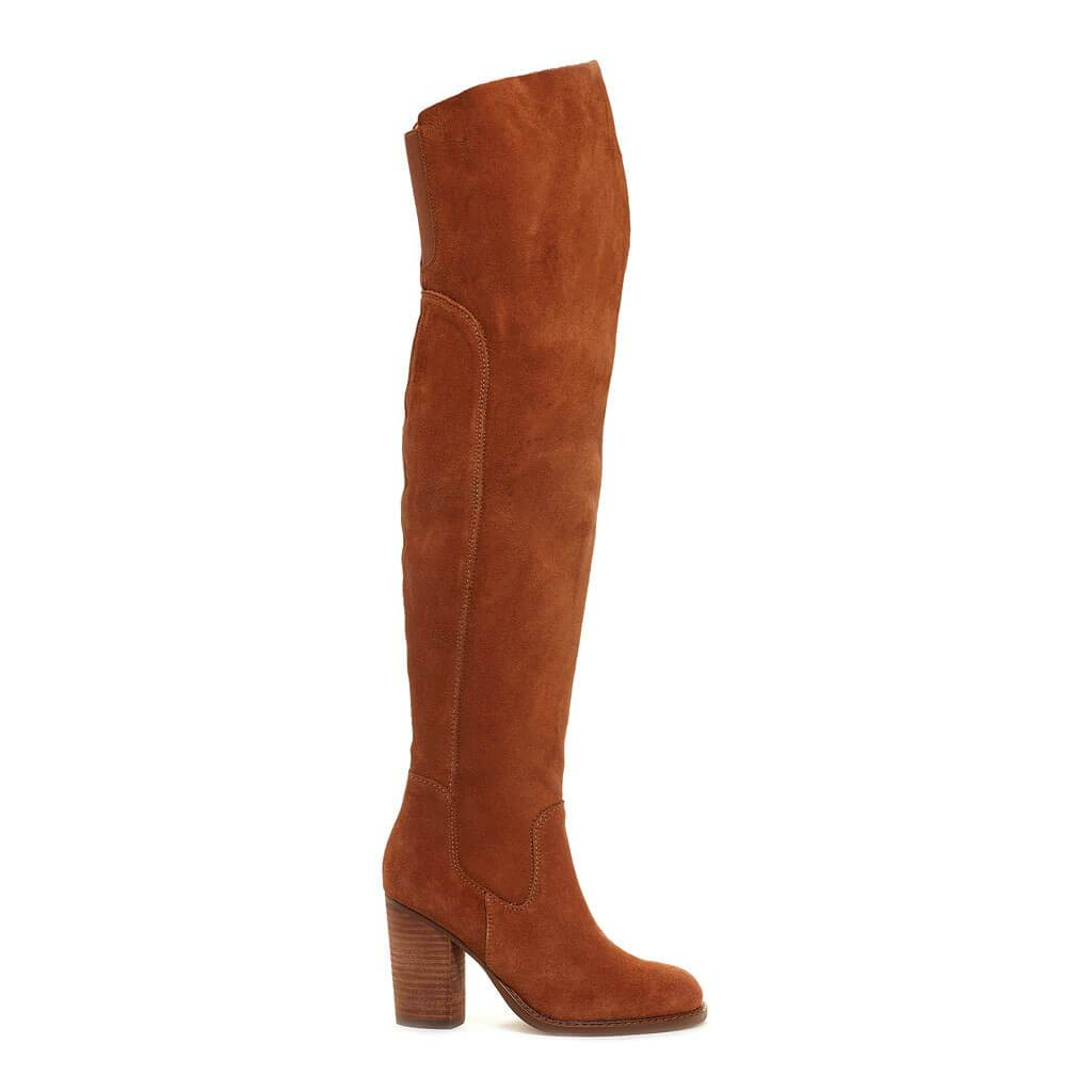 Logan Chestnut Over The Knee Boot