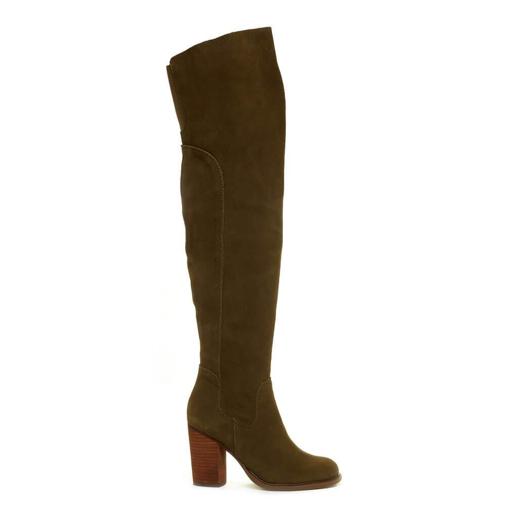 Logan Olive Over The Knee Boot