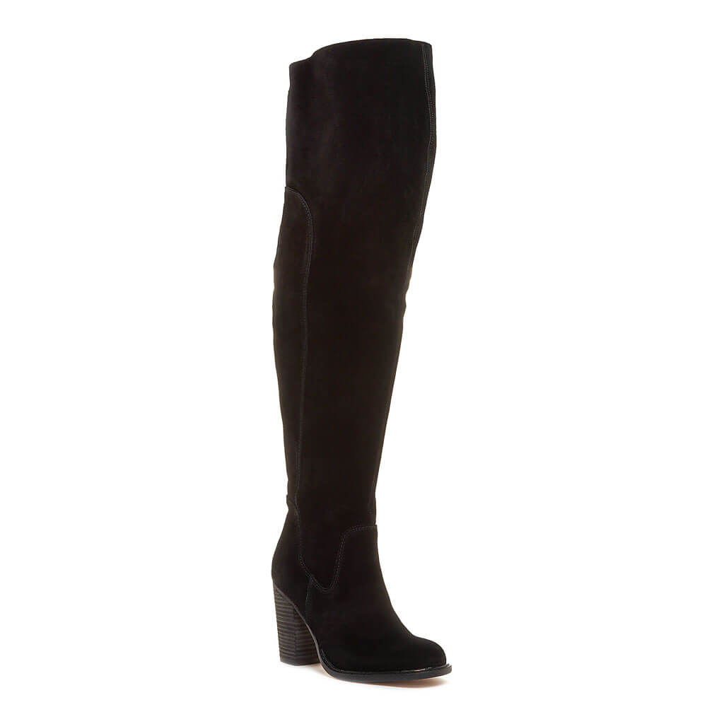 Logan Black Wide Calf Boot